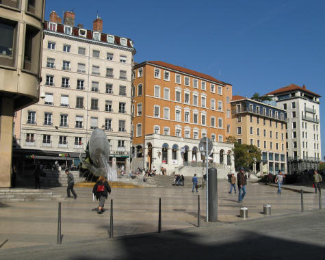 Louis Pradel Square in Lyon France