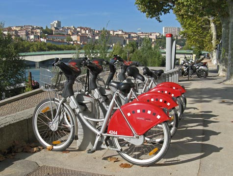 Public And Private Transportation In Lyon France