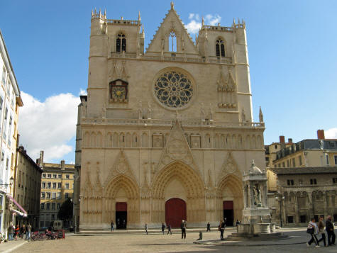 Saint Jean Cathedral in Lyon France